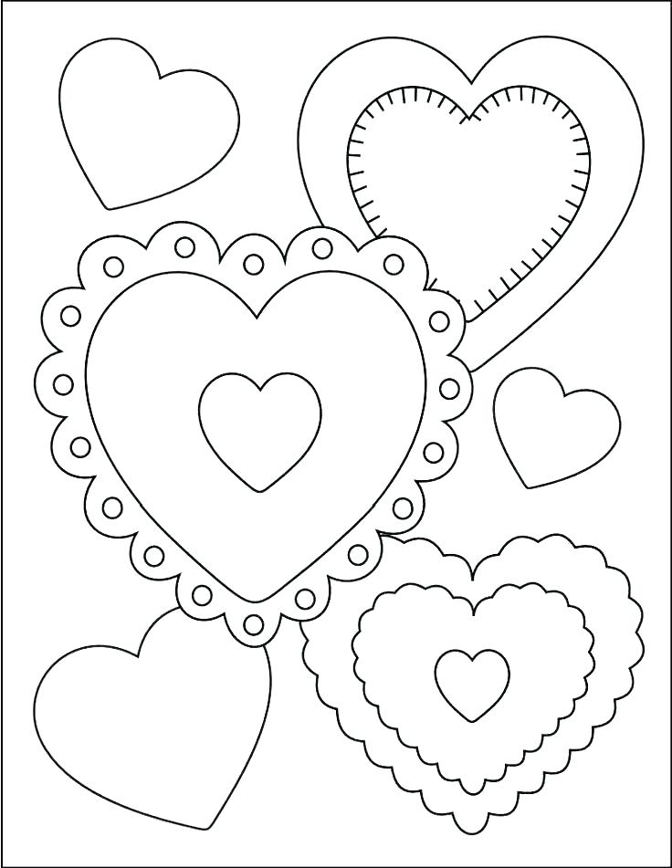 736x951 Happy Birthday Grandma Coloring Sheets Valentines Day Pages Free