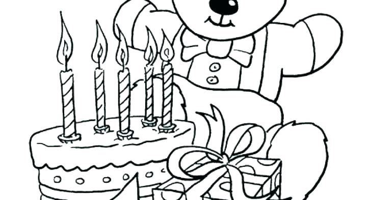 728x393 Coloring Pages For Birthday Happy Birthday Grandma Coloring Page