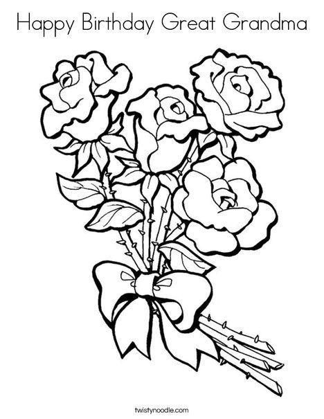 468x605 Happy Birthday Great Grandma Coloring Page