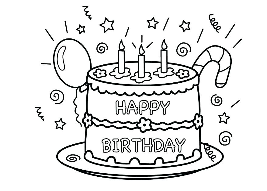 878x626 Happy Birthday Printout Happy Birthday Grandma Coloring Page Happy