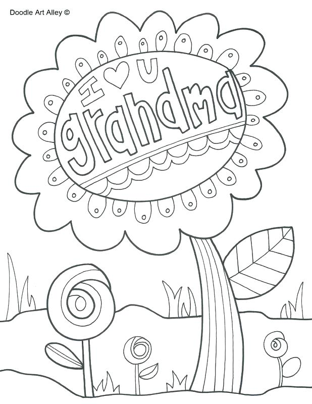 618x800 Hidden Pictures Colouring Pages Happy Birthday Grandma Coloring