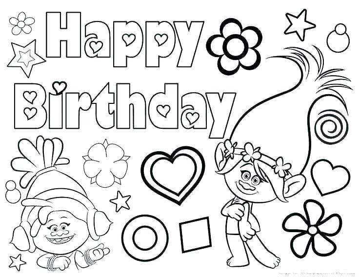 736x568 New Happy Birthday Grandma Coloring Pages Happy Birthday Coloring
