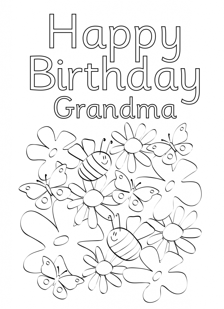 743x1024 Printable Coloring Birthday Cards On Printable Coloring Pages