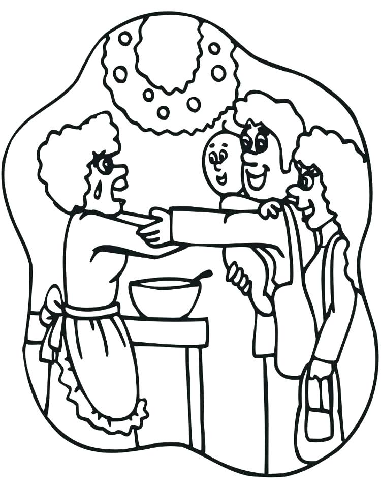 750x958 Happy Birthday Grandma Coloring Pages