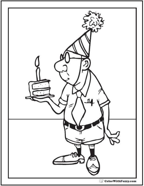 Happy Birthday Grandpa Coloring Page