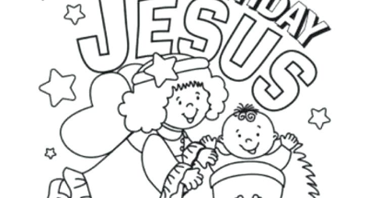 728x393 Happy Birthday Jesus Coloring Sheet Best Happy Birthday Wishes