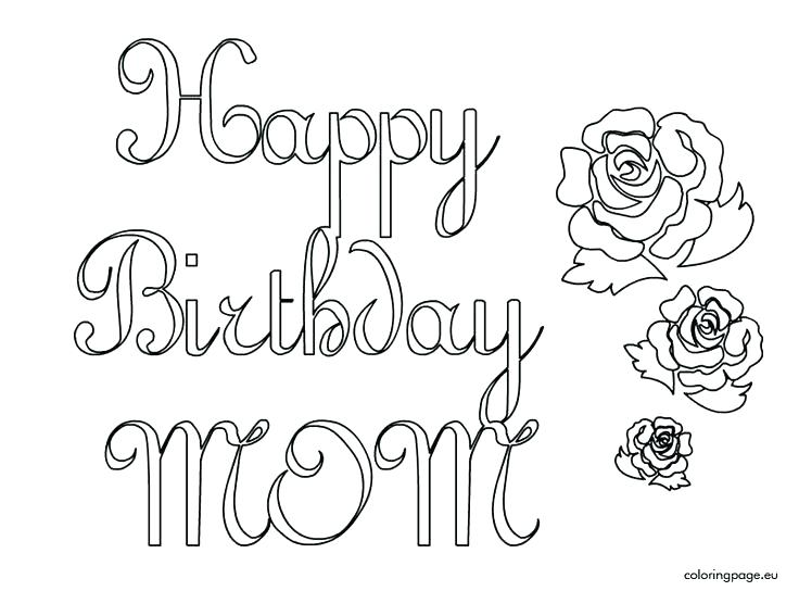 736x544 Printable Happy Birthday Coloring Pages Luxury Printable Happy