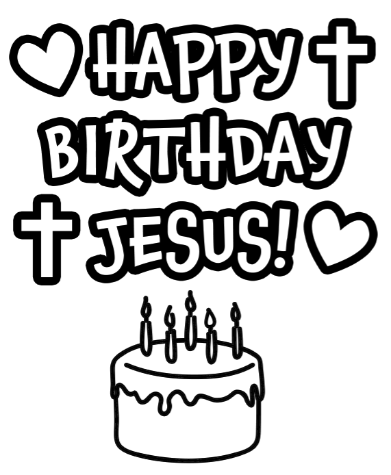 571x694 Throw Jesus A Birthday Party Happy Birthday Jesus, Christmas