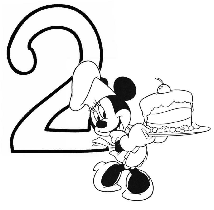 Happy Birthday Minnie Mouse Coloring Pages At Getdrawings Com Free