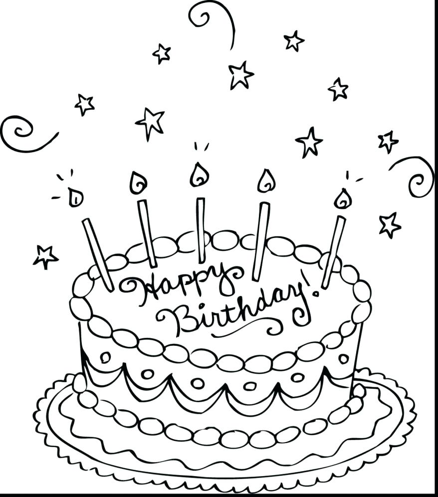 878x996 Happy Birthday Mom Coloring Page Pages Colouring Sheets Free