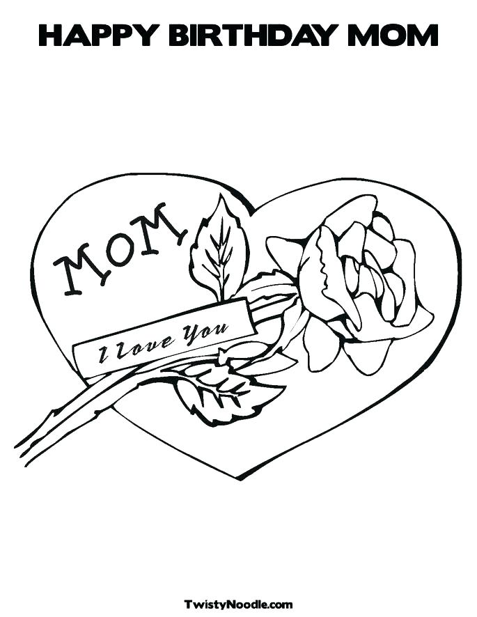 685x886 Happy Birthday Mom Colouring Pages Coloring Printable Es Cards New