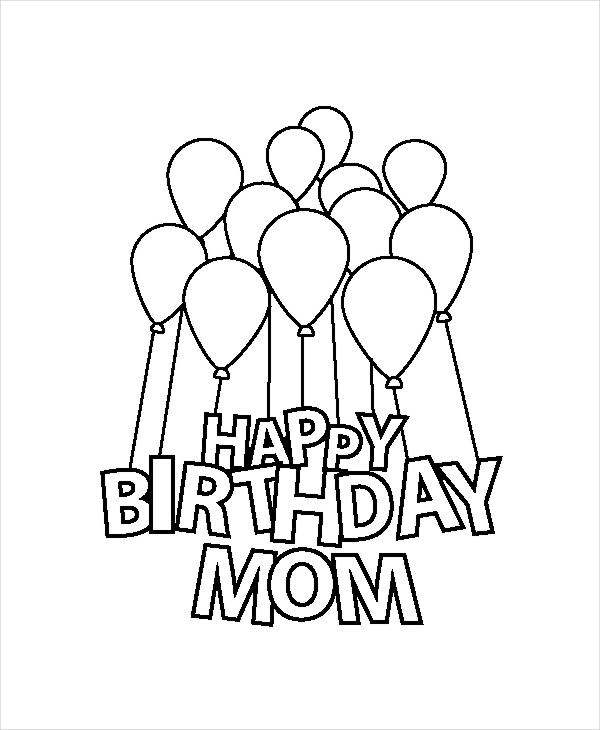 600x730 Happy Birthday Coloring Pages