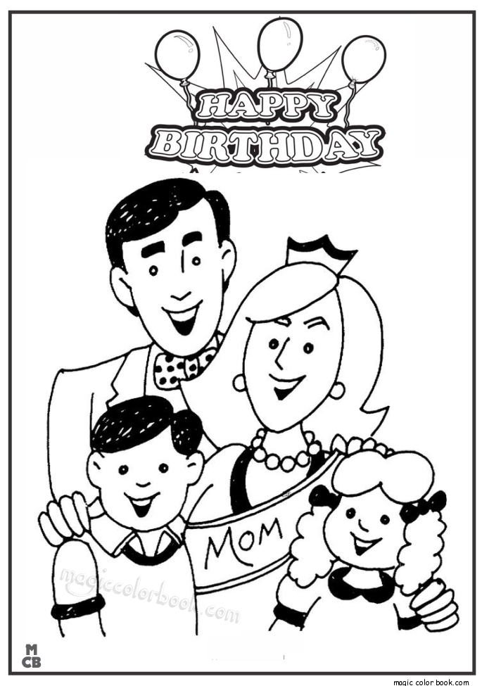 685x975 Happy Birthday Mommy Coloring Page Kid Crafts Throughout