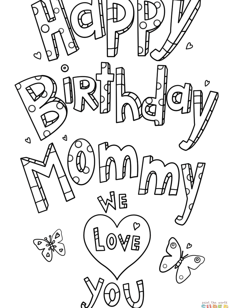 824x1080 Happy Birthdayummy Colouring Pagesom Coloring Page Sheets Fearsome