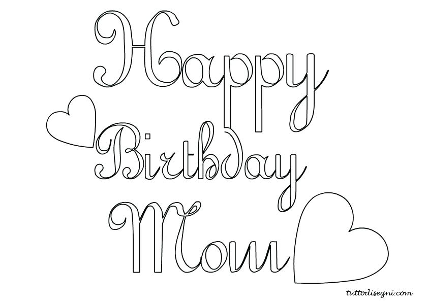 842x595 Mom Coloring Pages Coloring Pages For Mom Happy Birthday Mom