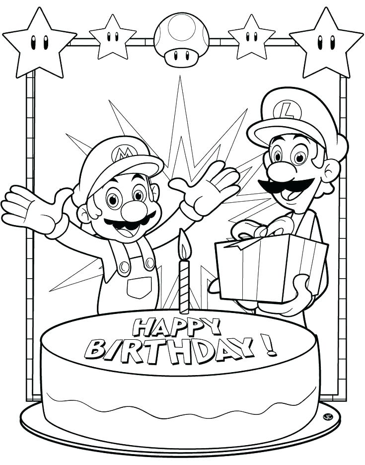 735x936 Happy Birthday Color Sheets Happy Birthday Coloring Pages To Print