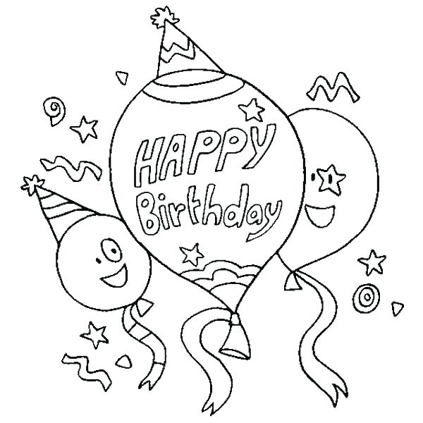 600x600 Happy Birthday Coloring Pages For Grandma Birthday Coloring Pages