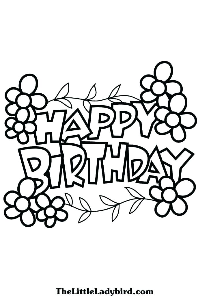 724x1024 Happy Birthday Coloring Pages For Grandma Coloring Pages Happy