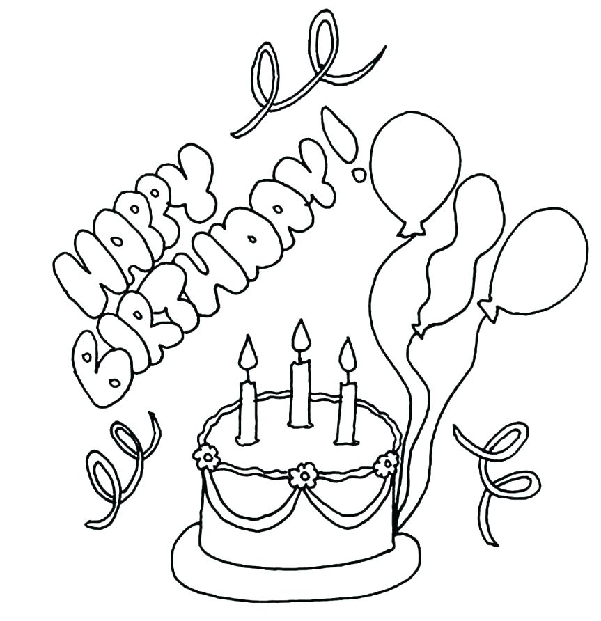 863x892 Happy Birthday Grandma Coloring Page Happy Birthday Nana Coloring