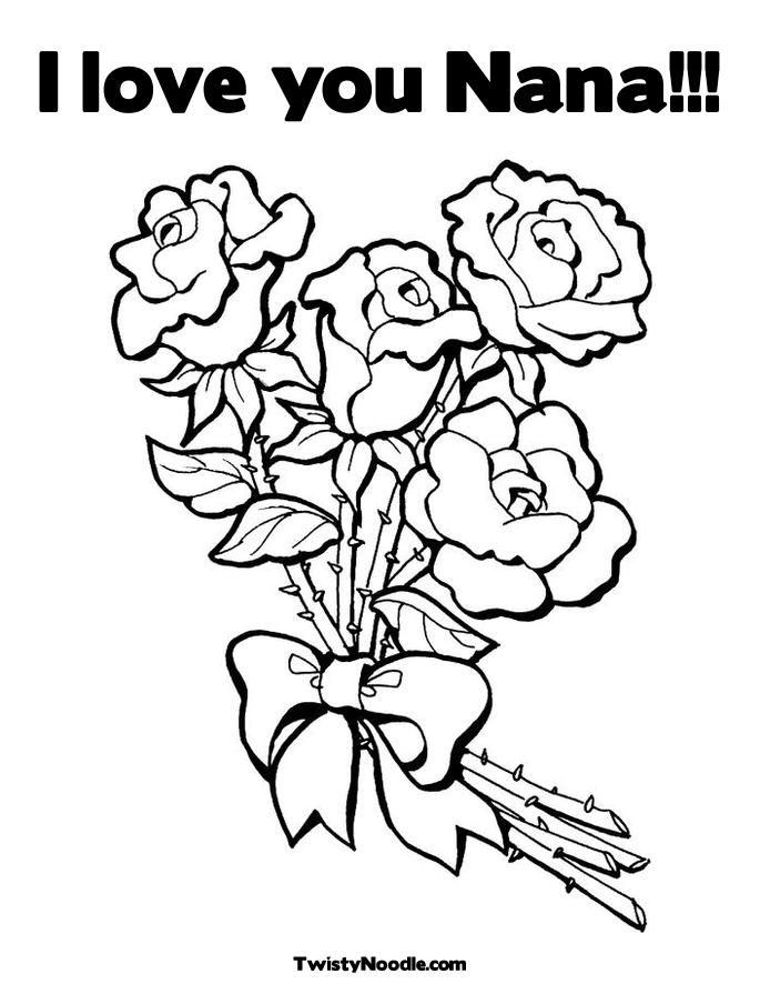 685x886 Happy Birthday Nana Coloring Page