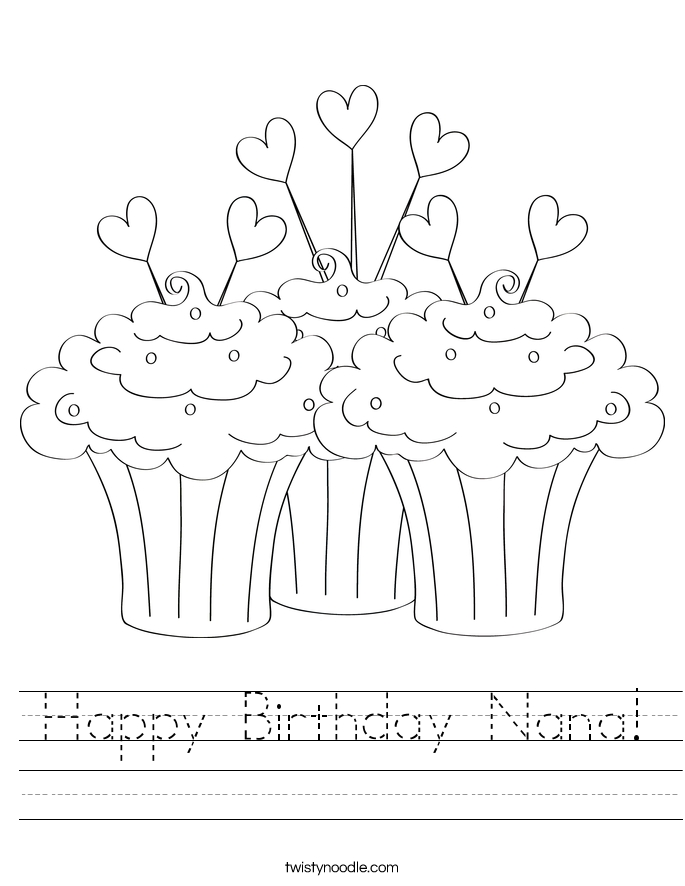 685x886 Happy Birthday Nana Coloring Page Happy Birthday Nana Coloring