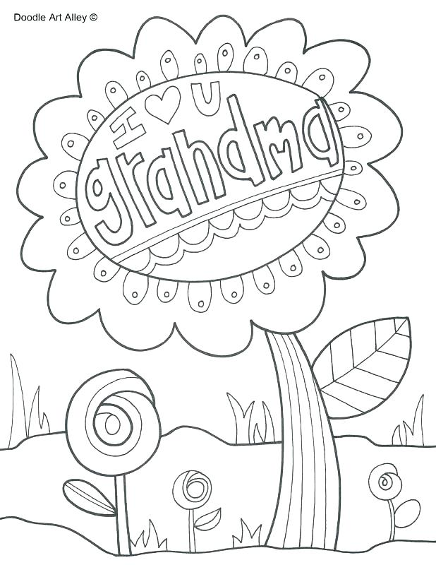It is a photo of Inventive happy birthday nana coloring pages