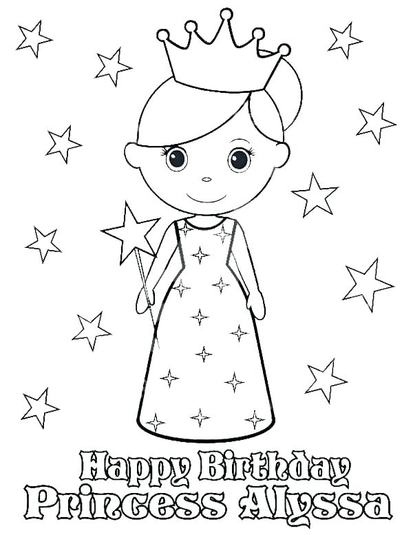 600x777 Happy Birthday Nana Coloring Pages Birthday Color Page Happy