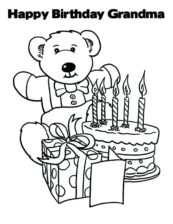 600x776 Coloring Happy Birthday Nana Coloring Pages Games Unblocked