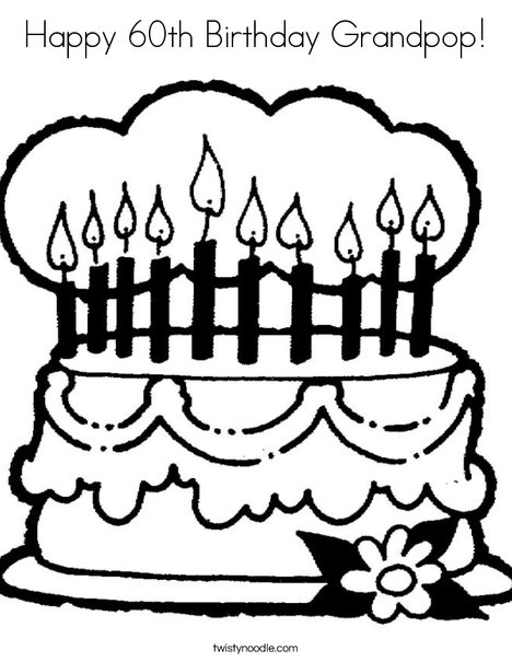 468x605 Coloring Pages Birthday Happy Birthday Nana Coloring Page