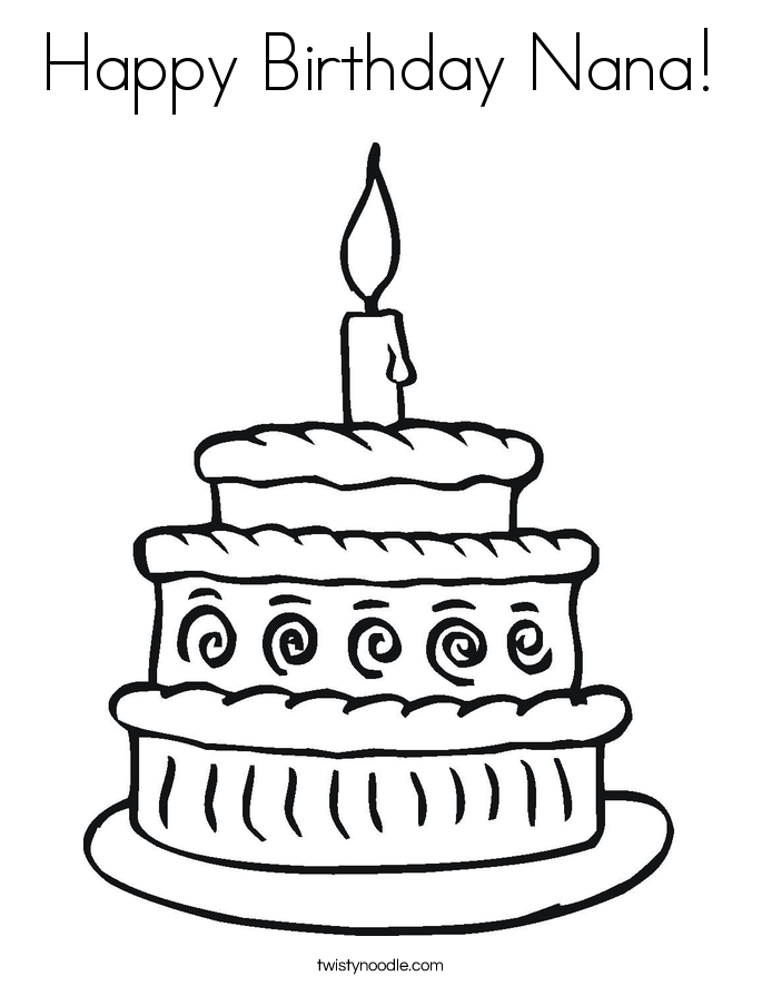 685x886 Grandma Birthday Coloring Pages Birthday Coloring Pages For Nana