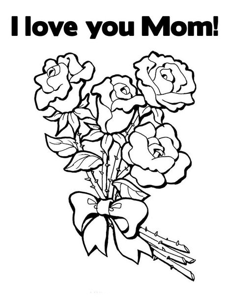 468x605 I Love My Mommy Coloring Pages Love You Mom Coloring Pages