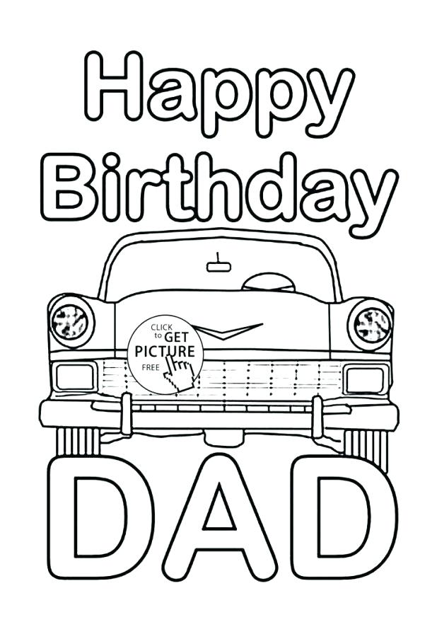 618x903 Happy Birthday Dad Coloring Pages Happy Birthday Dad Coloring Page