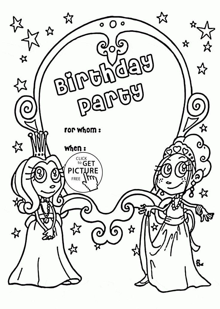 Happy Birthday Princess Coloring Pages at GetDrawings ...