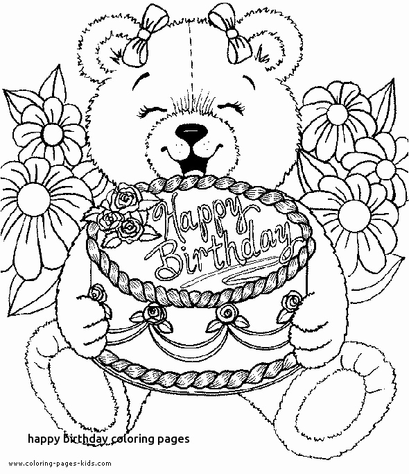 Happy Birthday Sister Coloring Pages