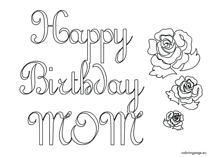 736x544 Coloring Pages For Adults Easy Happy Birthday Balloons Sister Page