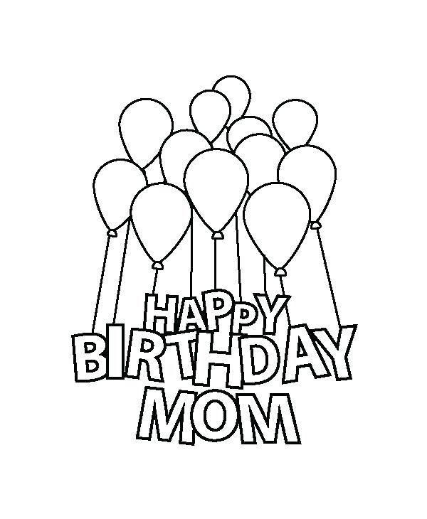 600x730 Coloring Pages That Say Happy Birthday Lovely Happy Birthday