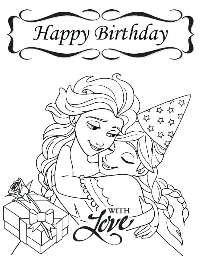 670x867 Free Printable Happy Birthday Coloring Pages Frozen Happy Birthday