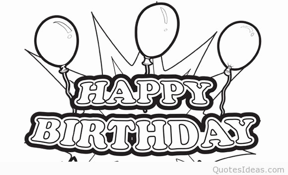 580x353 Happy Birthday Brother Coloring Pages Luxury Happy Birthday Wishes