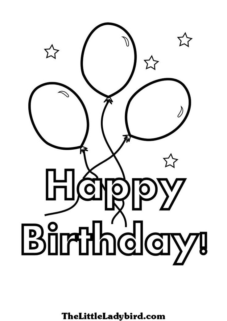 736x1040 Best Happy Birthday Coloring Pages Images On Adult