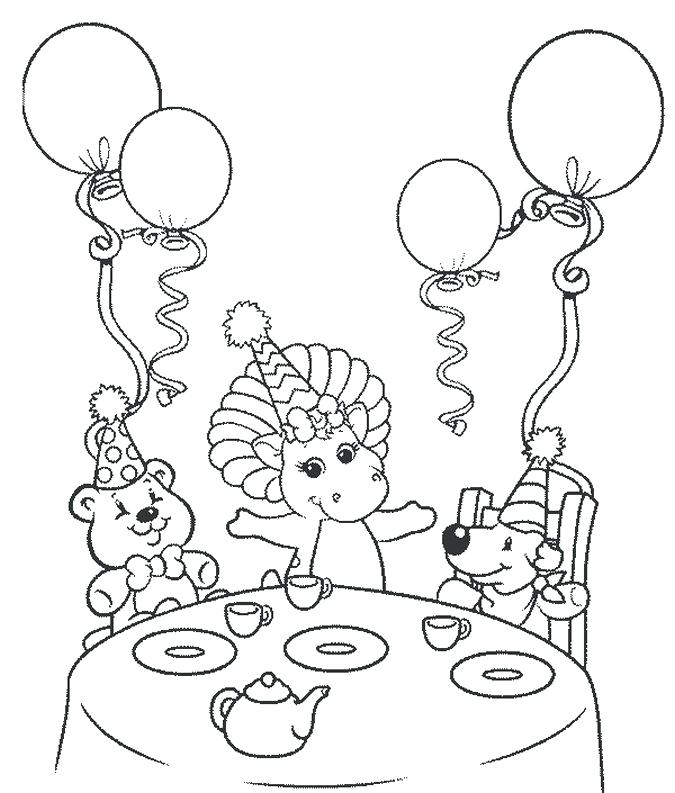 675x793 Happy Birthday Coloring Barney Happy Birthday Coloring Pages Happy