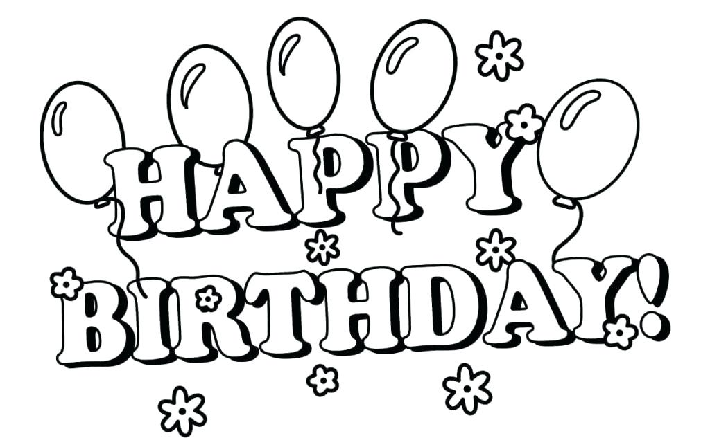 1024x633 Happy Birthday Coloring Pages For Sister Coloring Pages For Kids