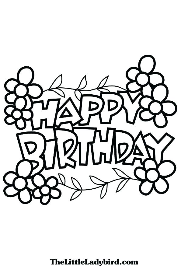 618x874 Happy Birthday Coloring Pages For Sister Coloring Pages To Print