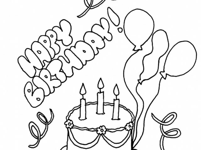 640x480 Happy Birthday Colouring In Cards New Happy Birthday Sister