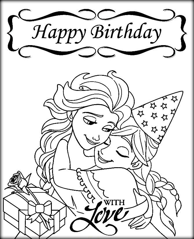 670x826 Happy Birthday Frozen Coloring Pages Coloring Pages, Coloring Page