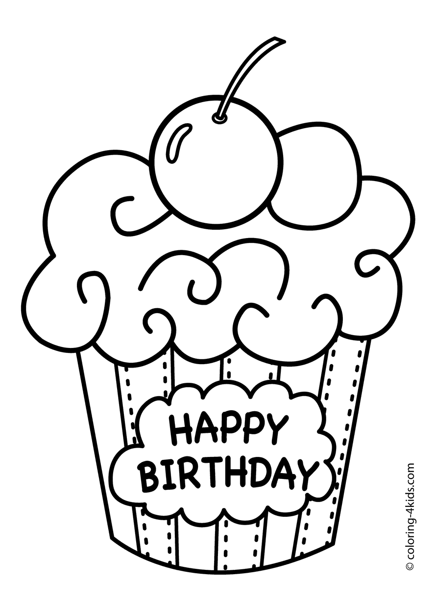 888x1245 Happy Birthday Coloring Pages Images Free