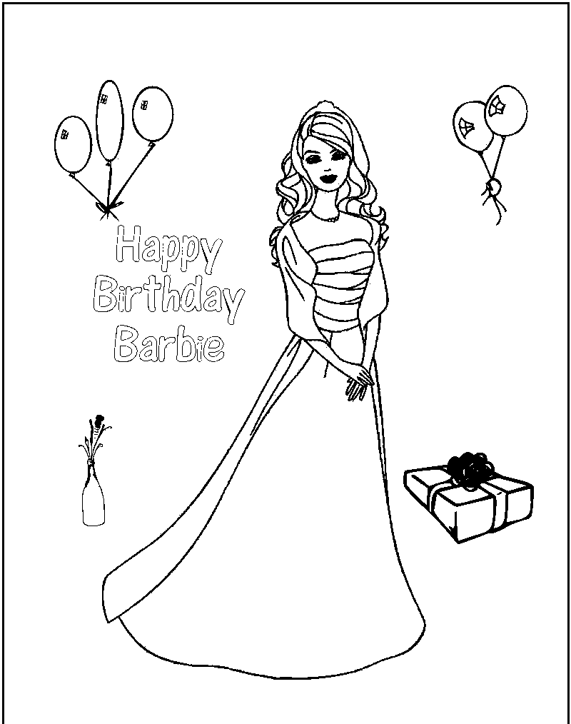 800x1014 Happy Birthday Sister Coloring Pages