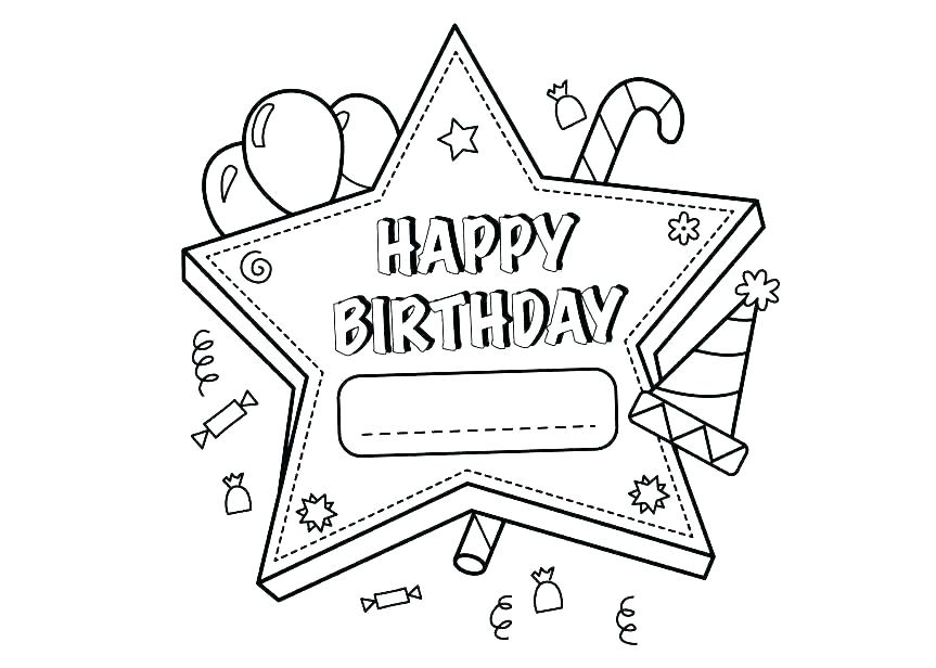 863x616 Happy Birthday Coloring Page Icontent