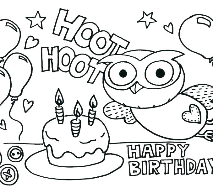 678x600 Free Printable Coloring Pages For Kids Birthday Coloring Pages