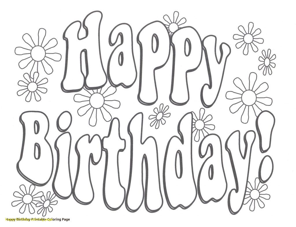 1024x785 Happy Birthday Coloring Page Clever Pages For Brother Boy Teacher