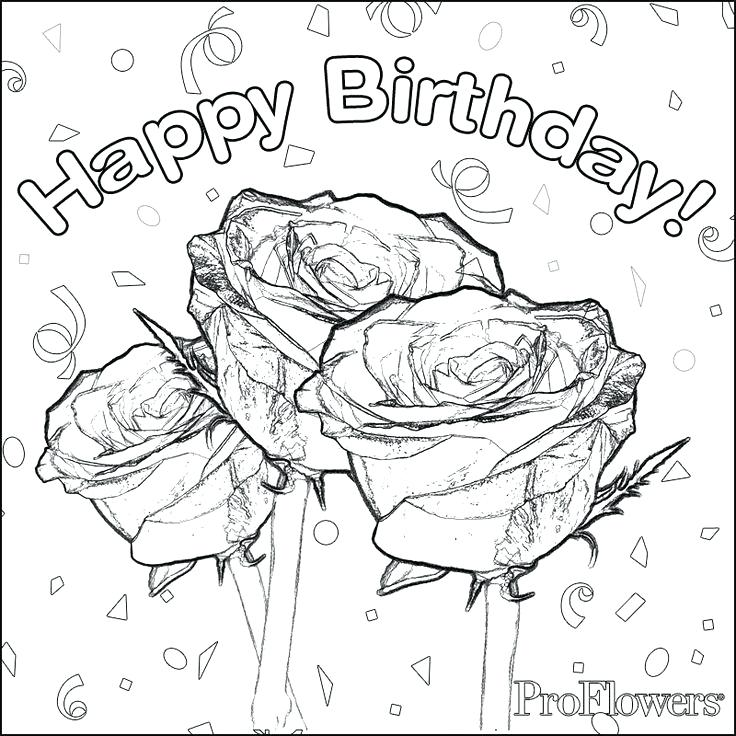 736x736 Happy Birthday Coloring Pages Birthday Coloring Pages For Adults